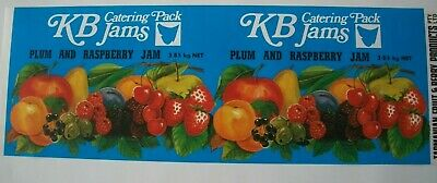 Vintage Long Apple Tin Label KB Catering Pack Tasmania Fruit Berry Australia