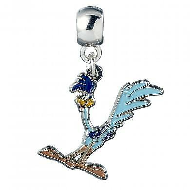 New Official Genuine Looney Tunes Silver Plated Road Runner Slider Charm