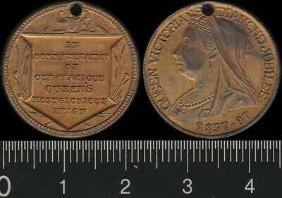 Great Britain: 1897 Queen Victoria Diamond Jubilee 60 Years of Reign medal