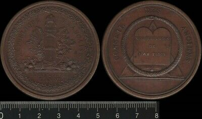 France: 1795 Constitution of the Year III, Council of Elders medal. Lovely aUNC