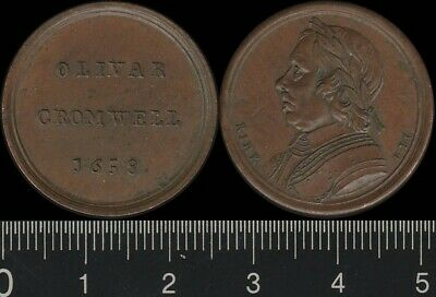 Great Britain: 1658 Oliver Cromwell medal by Kirk