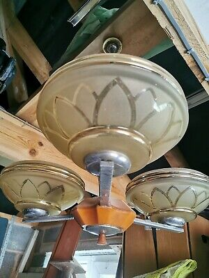 Vintage Chandelier Light Fitting Bakelite Orange