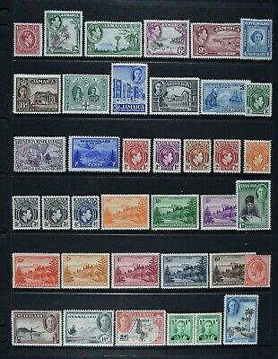 Former GB Colonies / Territories etc, KGV - QEII, 191 stamps, MM condition.