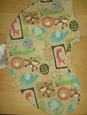 Boppy Pillow Cover Safari Monkey Giraffe Elephant