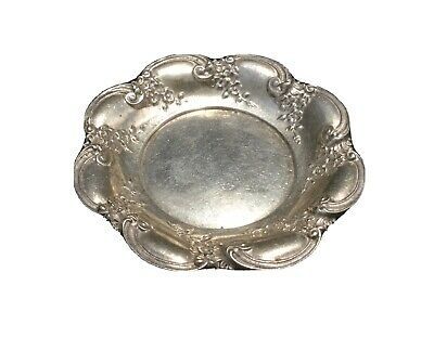 Simons Bro & Co. Sterling Silver Repousse Butter Pat Dish-Marked.         #3707