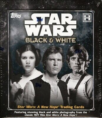 2018 Topps Star Wars A New Hope: Black And White Hobby 12 Box Case Blowout Cards