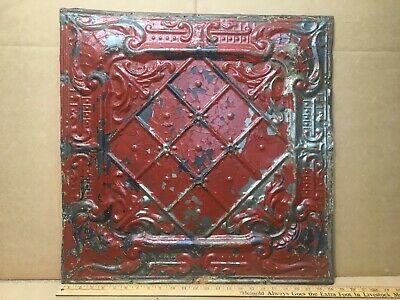 """1pc 24"""" x 24"""" Full Piece Antique Ceiling Tin Vintage Reclaimed Salvage Art Craft"""