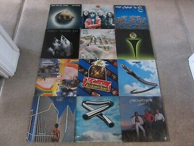 JOB LOT COLLECTION ~ PROG ROCK ~ LP RECORD ALBUM ~ 70s & 80s  ** ALL PICTURED **