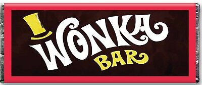 1 Wonka Bar Replica WITH GOLD FOIL Golden Ticket