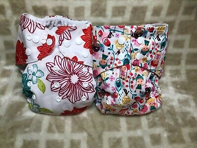AIO All in One Diapers GIRLS Flowers Children Girls