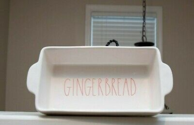 Rae Dunn Christmas Theme Loaf Pan: Gingerbread, Never Been Used, Excellent Shape