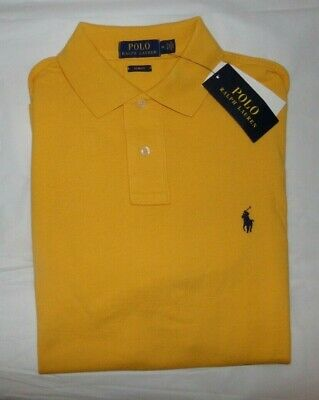 Nwt Mens Ralph Lauren S/S Polo Shirt~Yellow~Slim Fit~Sz Med