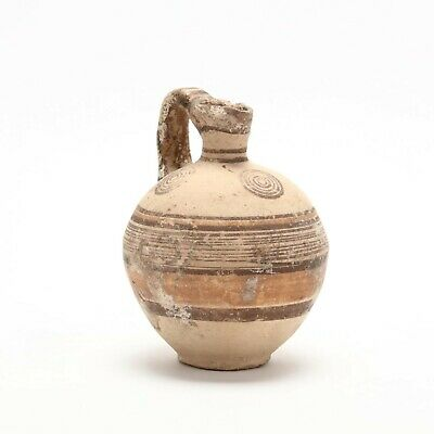 Authentic Antiquity Cypro-Archaic Barrel Flask c. 800-700 B.C. (Near Perfect)