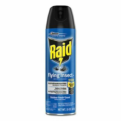 Raid Flying Insect Killer, 15 oz Aerosol, Outdoor Fresh, 12 Cans (SJN300816)