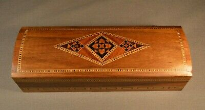 Vintage Middle Eastern  Marquetry Handmade Inlay Wood  Stunning Piece Pen Box