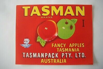 Vintage Apple Box Label Comet Tasman 'I' Fleet Tasmania Australia