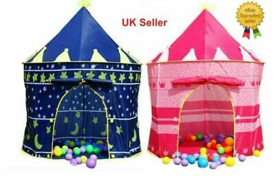 Childrens Kids Baby Pop Up Play Tent Fairy Girls Boys Playhouse Outdoor RW