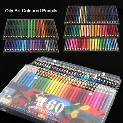 160 Colors Oil Art Pencils Drawing Set Sketching Artist Non-toxic Colouring UK