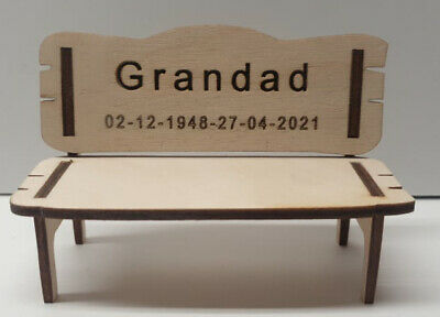 Personalised Remembrance Bench Wood Engraved