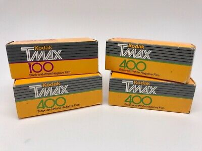 4 Rolls Kodak T-Max 100 & 400 Black & White 120 Medium Format Film TMAX
