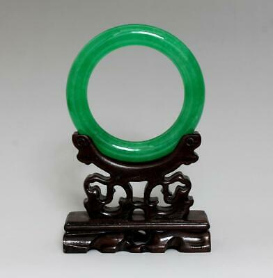 Perfect Rare Chinese Carved Natural Jadeite Bracelet Bangle 6Cm (K39)