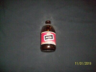 VINTAGE 12 oz BLACK LABEL BEER BOTTLE SIZE 5-7/8 INCHES. FRANKENMUTH,MI.