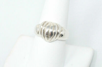 Beautiful Vintage High End Style Bubble Heart Sterling Silver Ring - Size 9