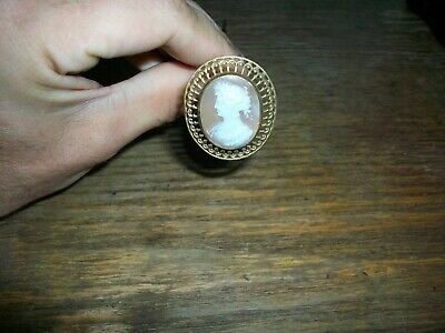 hatpin Victorian Edwardian hand carved cameo nice original antique Scarce!