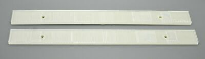 """GG Reflectors White 12"""" Long, 1"""" Wide 2 Screw Holes or Tape Mount #80867 Pair"""