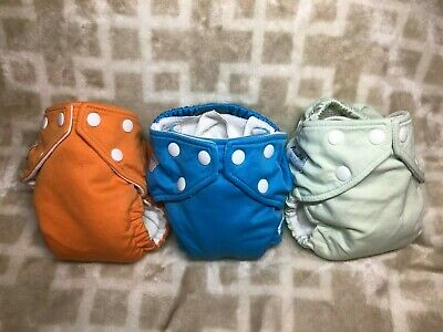 3 FuzziBunz Cloth Diapers One Size Elite Small Unisex