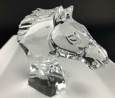 Great! Baccarat Full Lead Crystal Figurine 4.75 inch Horse Head Cheval France