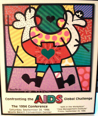** NEW ** Thick Paper ROMERO BRITTO 2010 MONTREUX JAZZ POSTER