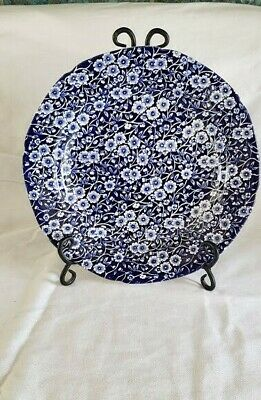 Crownford Staffordshire England Calico Blue Dinner Plate 10 5/8""