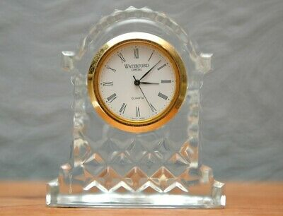 WATERFORD Crystal Gold Rimmed Carriage Clock