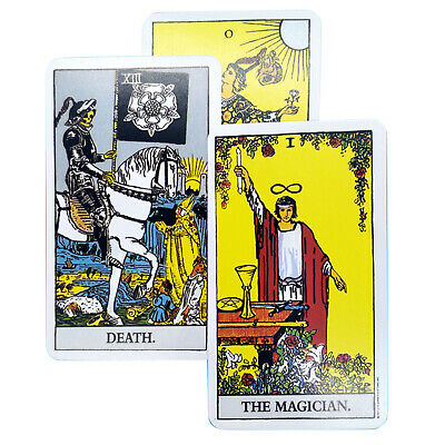 Tarot Cards 78 Vintage Rider Waite Deck Cards REGULAR Size + Guidebook