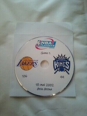 NBA Playoffs 2002 DVD Kobe Bryant Lakers vs Kings