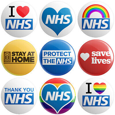 National Health Service Socialism UK 12 x NHS BUTTON PIN BADGES 25mm 1 INCH