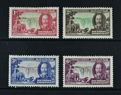 SOUTHERN RHODESIA, KGV, 1935 Silver Jubilee, set of 4 stamps, MM, Cat £28.