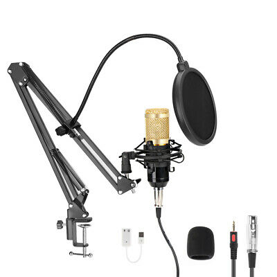 96KHZ/24 Bit USB Streaming Podcast PC Microphone Studio Cardioid Condenser Kits