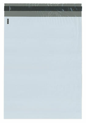 """Plymor Poly Mailer White/Gray Bag w/ Closure and Strip, 12"""" x 15.5"""" (Cse of 500)"""