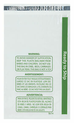 """Plymor Ready to Ship 1.5 Mil Wicketed Plastic Bags, 9"""" x 14"""" (Pack of 500)"""