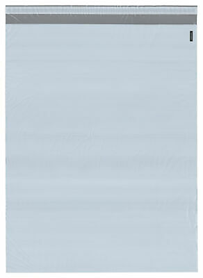 """Plymor Poly Mailer White/Gray Bag w/ Closure & Strip, 18.75"""" x 24"""" (Pack of 125)"""
