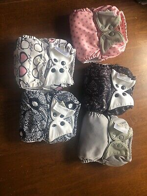 Bumgenius Freetime All in One Cloth Diaper One Size Lot Of 5