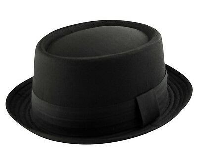 K.I Headwear HEISENBERG - BREAKING BAD PORK PIE - 100% Cotton Hat Cap - Black