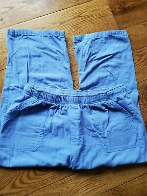 Basic Editions Women's size Medium Blue Capri Pull-On Cropped Pants