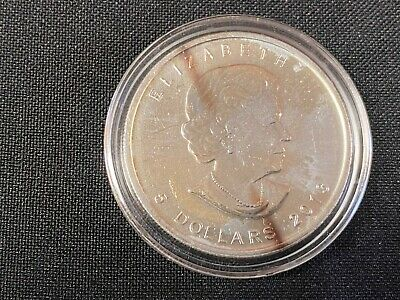 2013 5 Dollars Coin Canada Maple Leaf 1oz Fine .9999 Silver