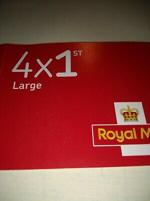 ROYAL MAIL 4 x 1st CLASS LARGE LETTER STAMPS SELF ADHESIVE NEW & GENUINE
