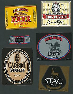 6 Assorted Beer Labels Old However New Labels Unused From Various Breweries