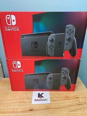 Nintendo Switch V2 Console with Gray Joy-Con Brand New Grey (Newest Model)