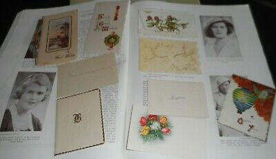 9 sweet little antique greeting cards early 1900s. 2 are unused Christmas.